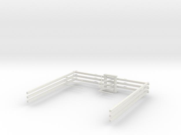 3st Bovenleiding dubbel H0 2018 in White Natural Versatile Plastic