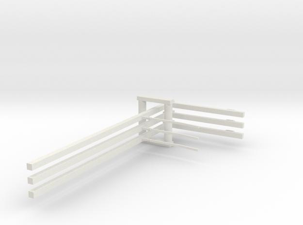 3st Bovenleiding enkel H0 in White Natural Versatile Plastic
