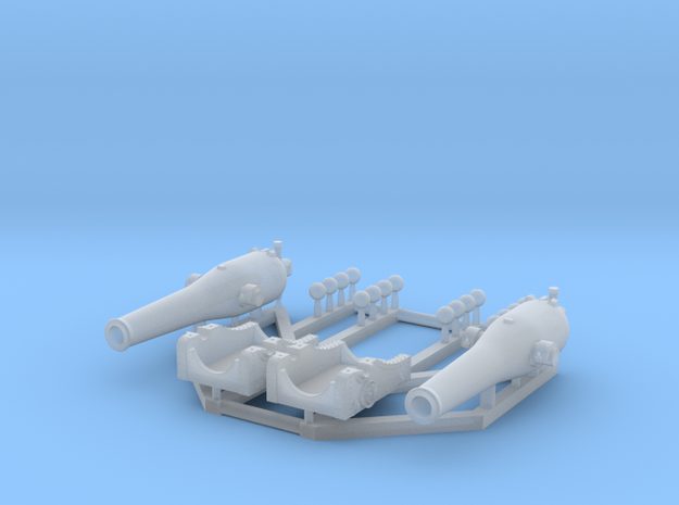 2 X 1/192 Dahlgren XI Smoothbore Cannon in Smooth Fine Detail Plastic