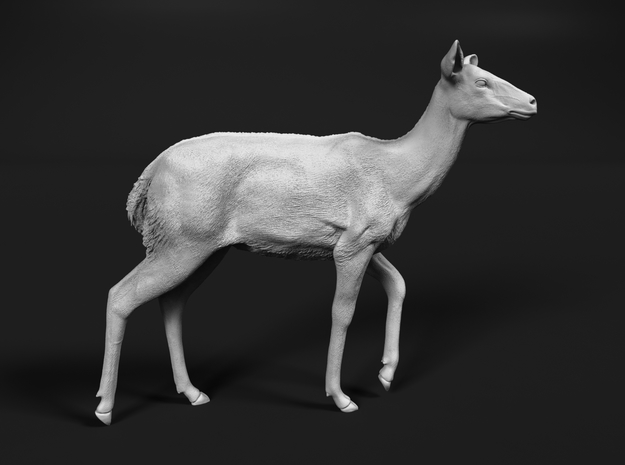 Nyala 1:25 Walking Female in White Natural Versatile Plastic