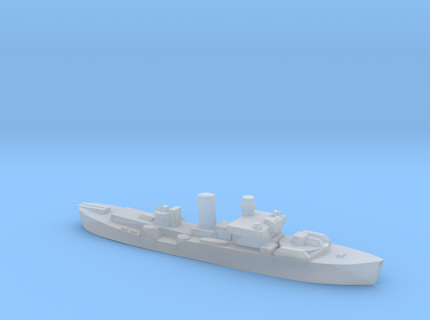 Flower Class corvette 1:3000 GBR WW2 naval r2 in Smoothest Fine Detail Plastic