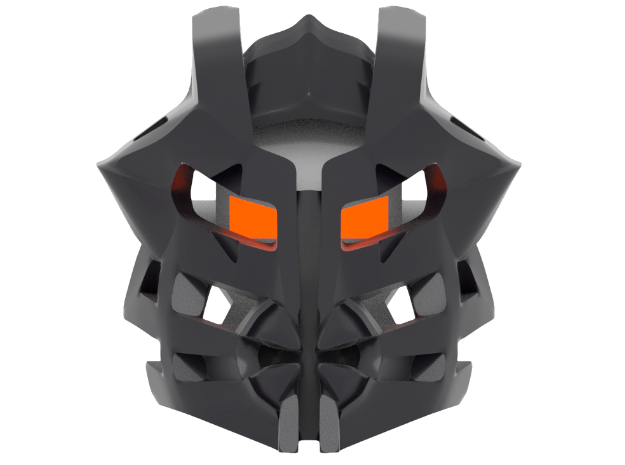 Great Mask of Undeath (Makuta) in White Natural Versatile Plastic