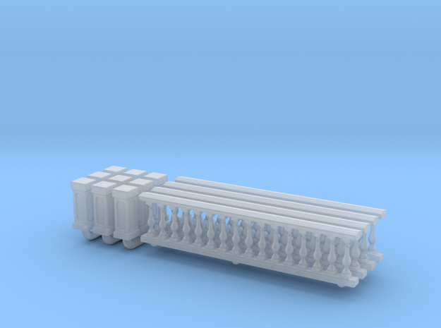 Baluster 01. 1:148 Scale  in Smooth Fine Detail Plastic