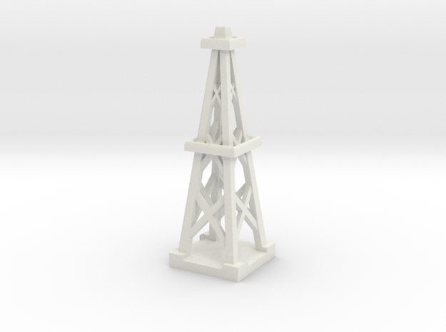 3inch Oil Derrick in White Natural Versatile Plastic