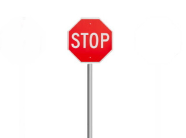 Stop Signs (8 ea.) in Smooth Fine Detail Plastic: 1:87 - HO