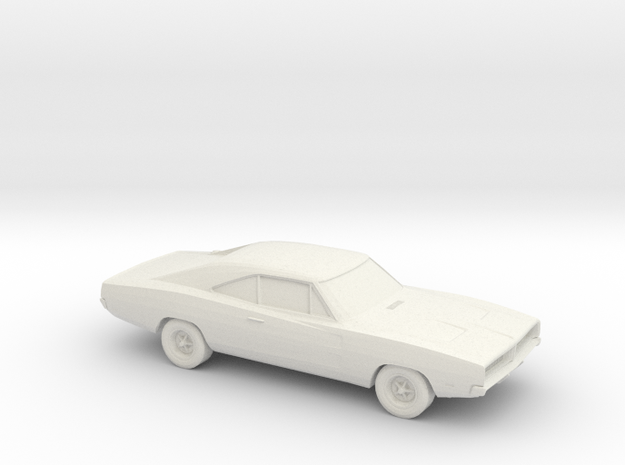 1/72 1969 Dodge Charger in White Natural Versatile Plastic