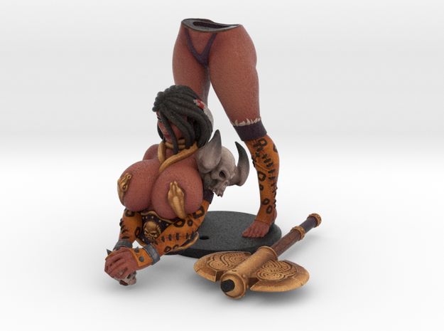 Shashana the Barbarian 200mm in Natural Full Color Sandstone