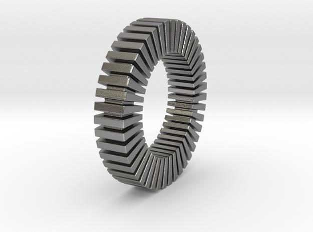 Patrick Tetragon 2 Ring - expanded in Natural Silver: 1.75 / -