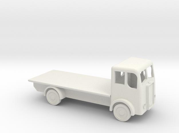 N gauge flatbed lorry in White Natural Versatile Plastic