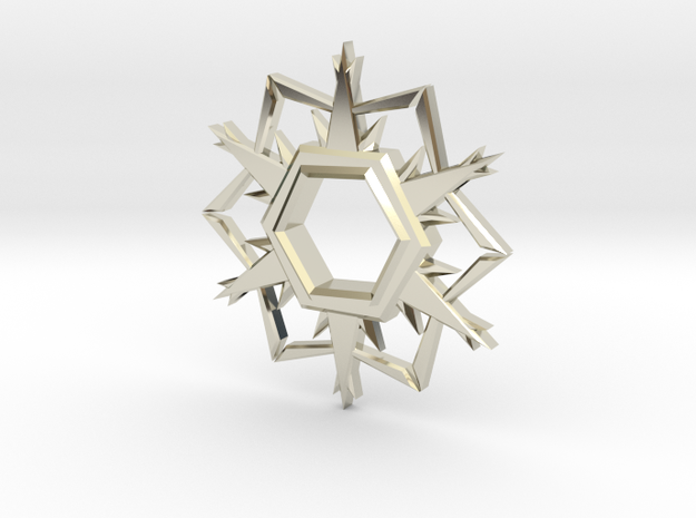 Alpha-Omega Snowflake in 14k White Gold