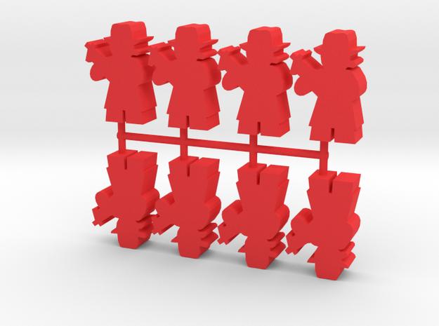 Custom Order, Gangster, Large, 8-set in Red Processed Versatile Plastic