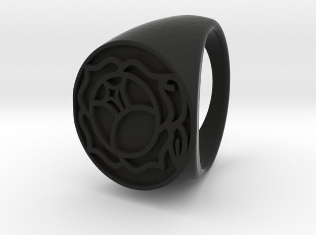 Utena Ring size 4 in Black Natural Versatile Plastic