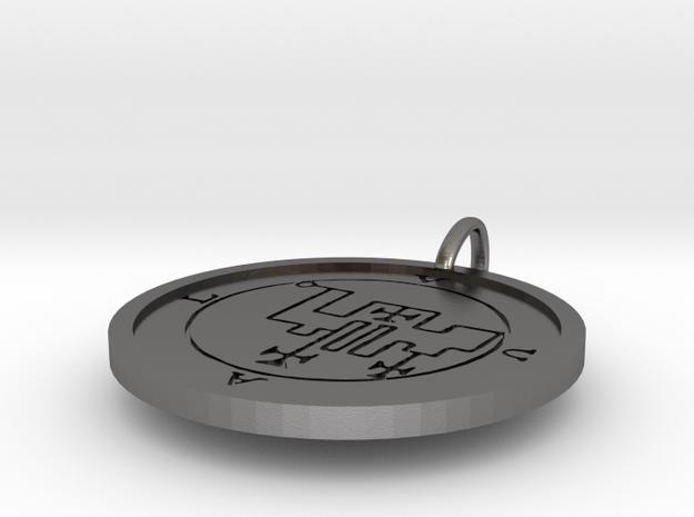 Uvall Medallion in Polished Nickel Steel
