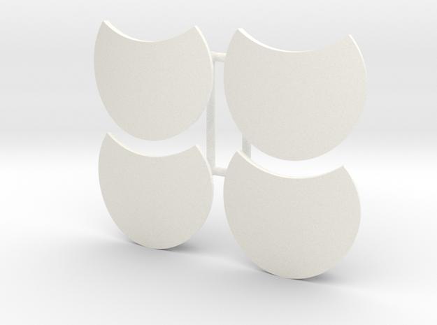 PELTAST SHIELD 3 X4 in White Processed Versatile Plastic