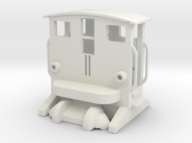 BREUER Rangiertraktor mit Fahrwerk und Rädern 1:16 in White Natural Versatile Plastic