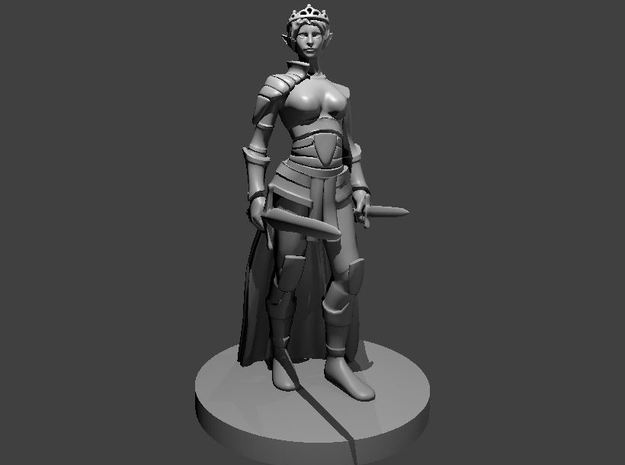 Elf Female Princess Rogue in Smooth Fine Detail Plastic