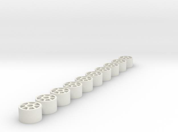 8.8x5.5x2.38 in White Natural Versatile Plastic