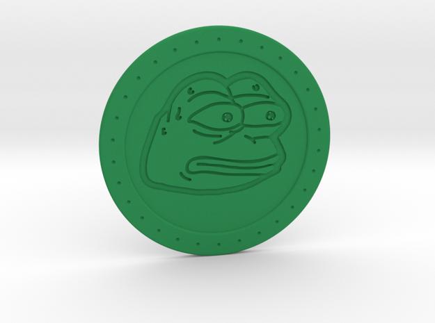 Pepe the Frog monkaS Meme Coaster  in Green Processed Versatile Plastic