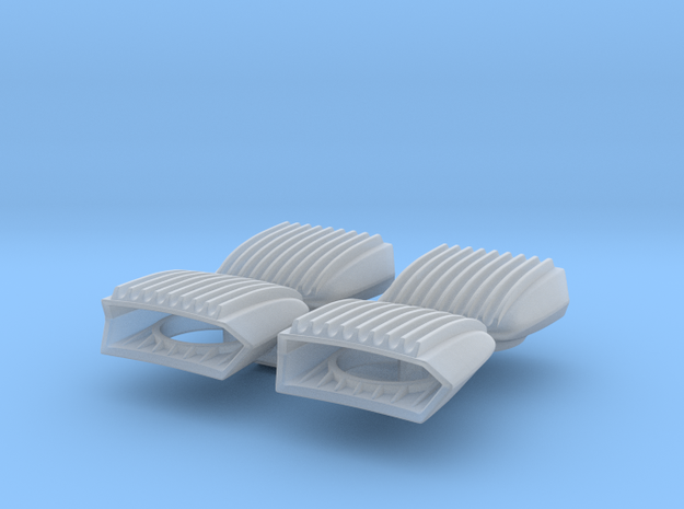 1/25 Cal Custom 40-40 Ribbed Scoops in Smooth Fine Detail Plastic