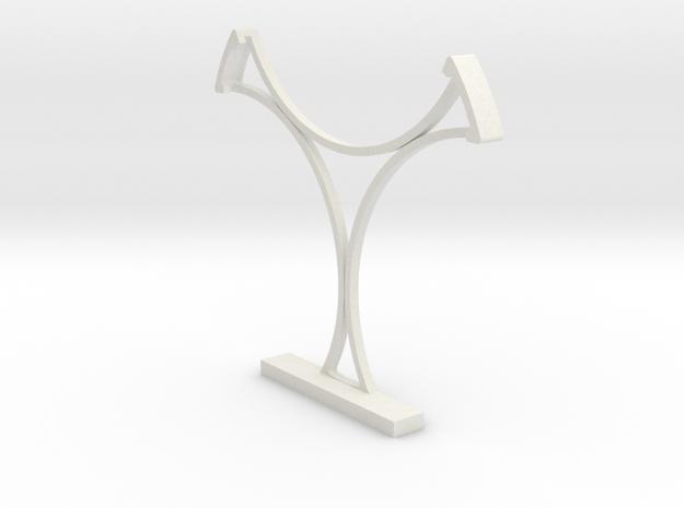 Swimming/Gymnastics Badge Free-Standing Holder 75m in White Natural Versatile Plastic
