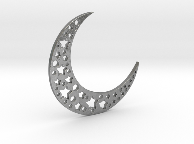 halfmoon-stars in Natural Silver