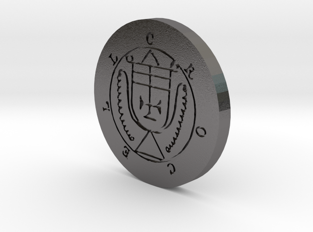Crocell Coin in Polished Nickel Steel