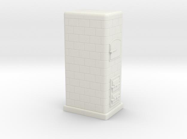 TT Tiled coal-burning stove 1:120 (IId) in White Natural Versatile Plastic