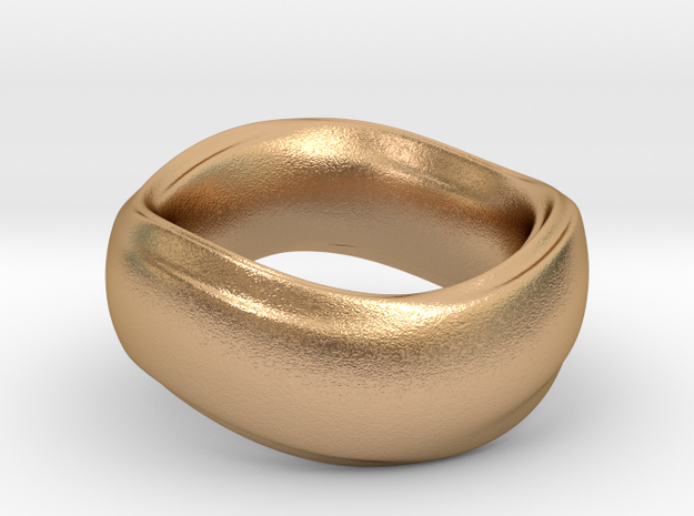 Ima Wave Ring in Natural Bronze: 5 / 49