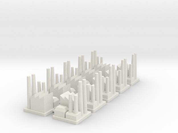 Major Industrial Complex (x10) in White Natural Versatile Plastic