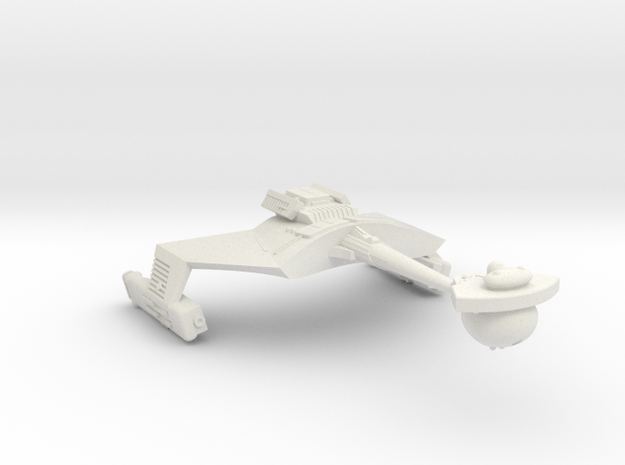 3788 Scale Romulan KRM Mauler Cruiser (Smooth) in White Natural Versatile Plastic