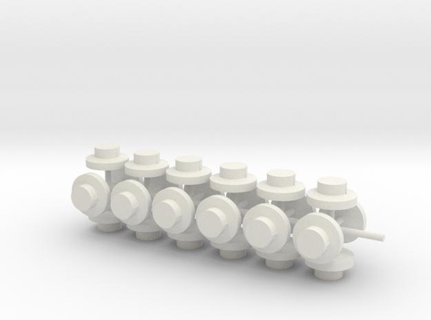 20883 Plug for Hornby Dublo plastic platforms x24 in White Natural Versatile Plastic