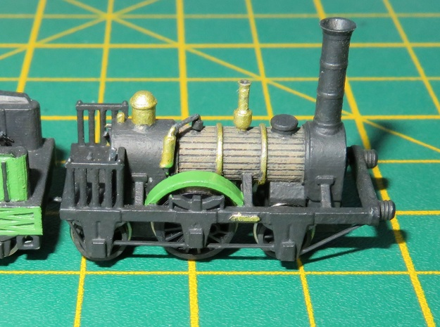 N Gauge 1830s Patentee Loco Scratch Aid in Smooth Fine Detail Plastic