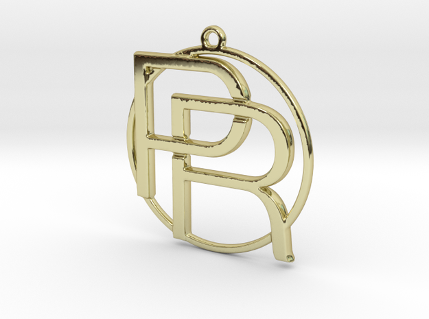P&R Monogram in 18k Gold Plated Brass