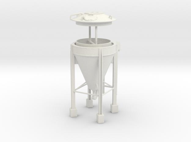 1/50th Concrete cement asphalt powder Silo in White Natural Versatile Plastic