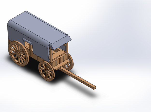 TELEGRAPH WAGON in White Natural Versatile Plastic