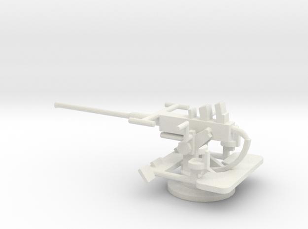 1/96 Scale 40mm Bofor Mk3 in White Natural Versatile Plastic