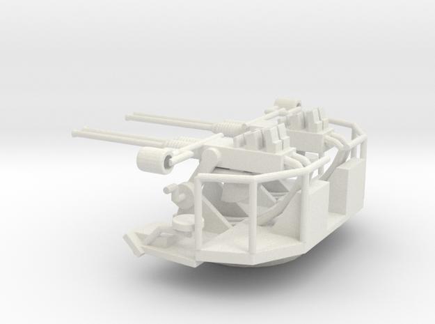 1/96 Scale Quad 40mm Bofor Mk2 in White Natural Versatile Plastic