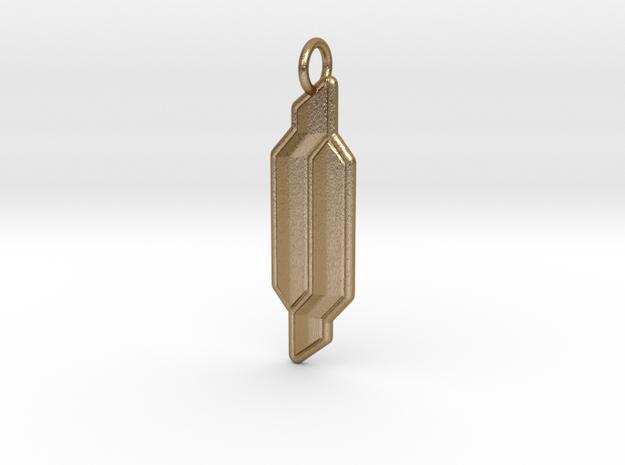 GA America Emblem in Polished Gold Steel