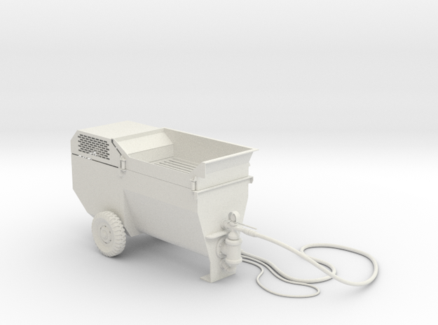 1:14 Mobile Schneid Strahl Anlage in White Natural Versatile Plastic
