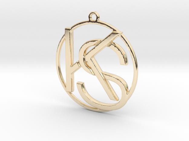 K&S Monogram in 14k Gold Plated Brass