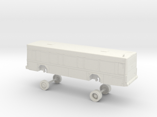 HO Scale Bus Gillig Low Floor SFSU 59 in White Natural Versatile Plastic