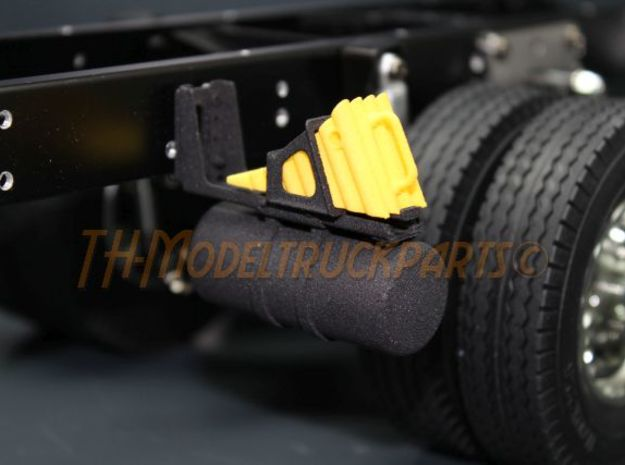THM 00.1036 Air reservoir + wheel chock holder in Black Natural Versatile Plastic