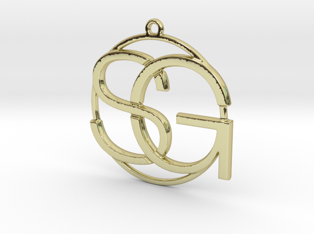 S&G Monogram in 18k Gold Plated Brass