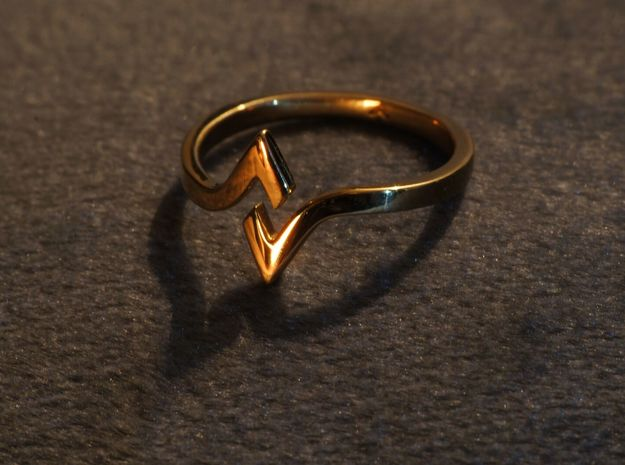 HERA Ring in 18k Gold Plated Brass: 6 / 51.5