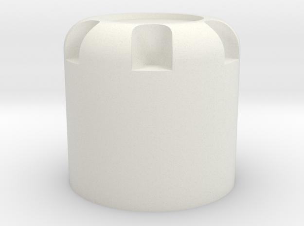 Scale 1/10 M4 nut cap in White Natural Versatile Plastic