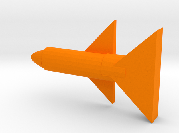 Rocket in Orange Processed Versatile Plastic
