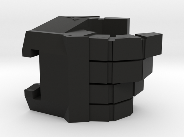 Megatron Right Hand v1 in Black Natural Versatile Plastic