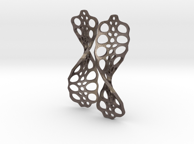 Cells.Helical in Polished Bronzed-Silver Steel