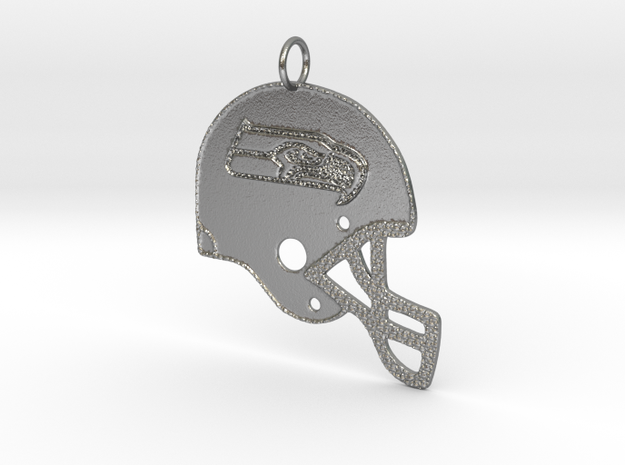 Seattle Seahawks 2.6 inches in Natural Silver