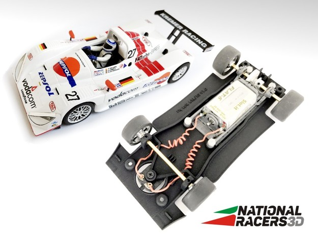 3D Chassis - Fly Lola B98/10 - Inline in Black Natural Versatile Plastic